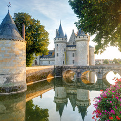 Fototapete - The chateau of Sully-sur-Loire, France
