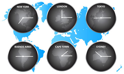 Time Zones Around The World