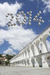 Brazil 2014 Soccer Message Arcos da Lapa Arches Rio de Janeiro