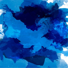 Abstract watercolor palette of blue colors