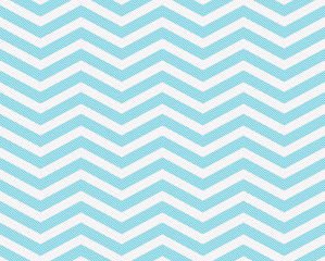 Teal and White Zigzag Textured Fabric Background