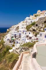 Traditional white buildings of Santorini, Greece