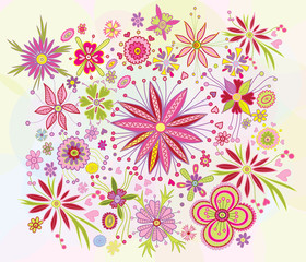 beautiful floral pattern for design cards