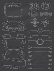 Vintage Calligraphy Chalkboard Design Elements Five