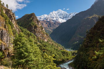 Valley close to Phakding, Himalaya, Nepal