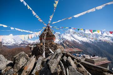 Printed roller blinds Nepal Mong La Pass, Himalaya, Nepal