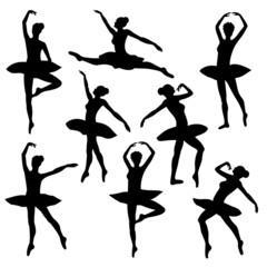 ballet silhouette  ballerina dancer figure