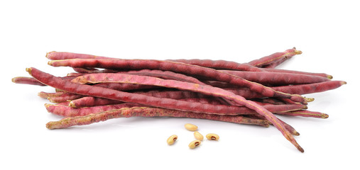 red beans on the white background.