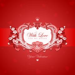 Vintage Valentine's day greeting card vector design