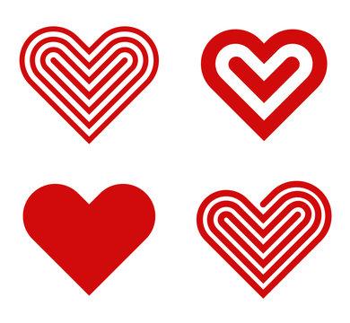 Heart logo design collection. Valentine's day. Love, Cardio icon