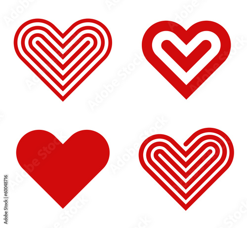 Heart Logo Design Collection Valentine S Day Love Cardio Icon