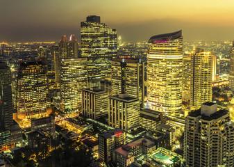 Bangkok city night view, Thailand