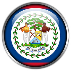 Belize Flag glossy button