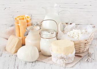 Fotobehang Zuivelproducten Dairy products.