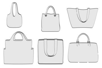 cartoon image of shopping bags