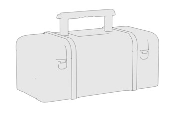 cartoon image of tool box