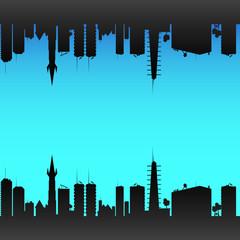 city color vector illustration