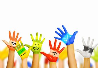 Hands in paint