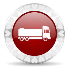 truck valentines day icon