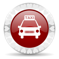taxi valentines day icon