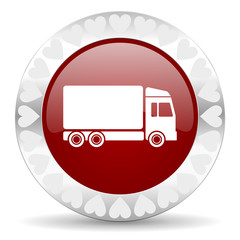 delivery valentines day icon