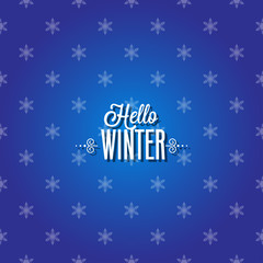 Winter Card with Snowflakes.vector