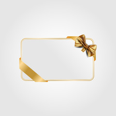 Greeting card for Valentine. Gold