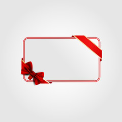Greeting card for Valentine. Red