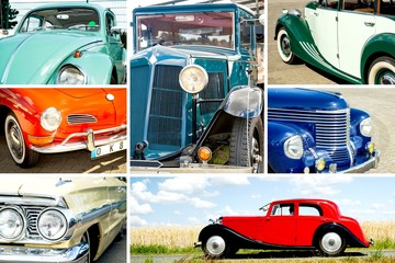Oldtimer -Collage