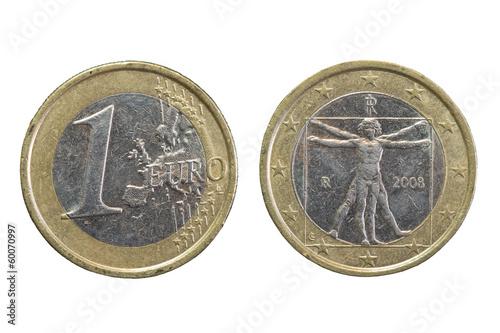 1 Euro Münze Gebraucht Beidseitig Stockfotos Und Lizenzfreie Bilder