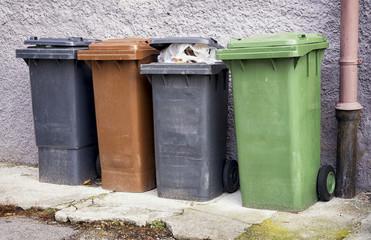 modern garbage bins