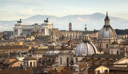 Foto op Canvas Rome Vue des toits de Rome