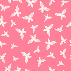 Seamless Butterfly On A Pink Background