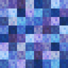 seamless grid square purple and blue pattern