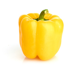 sweet yellow pepper isolated on white background