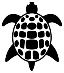 simple tattoo of a turtle