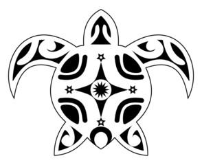 tattoo of a turtle, tribal polynesian