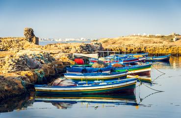 Poster de jardin Tunisie Ancient Phoenician Port of Mahdia