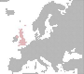 Großbritannien - Serie: Pixelkarte Europa