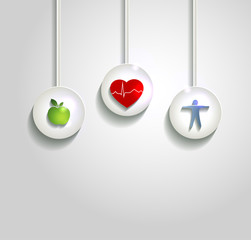 Wellness concept background, heart health care