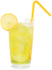 Lemonade with ice cubes