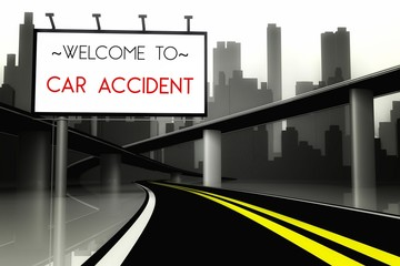 Welcome to car accident on highway
