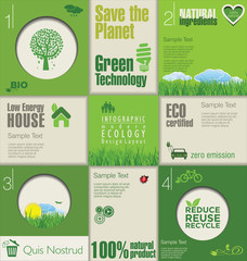 Modern green ecology Design Layout