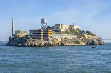 The island of Alcatraz,San Francisco