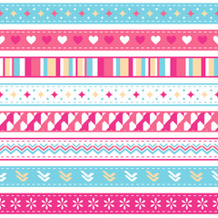 bright seamless holiday ribbons
