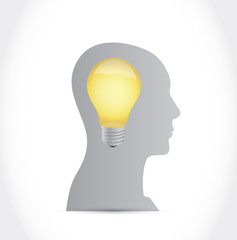 idea light bulb illustration design