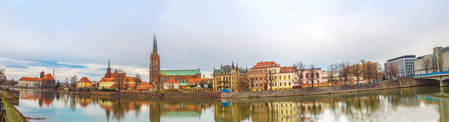 Wall Mural - Wroclaw old city panorama