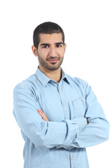 Arab casual man posing with folded arms