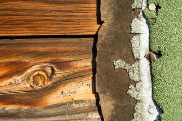 Knotty Pine Board Weathered Wood Asphalt Shingle Roofing Siding