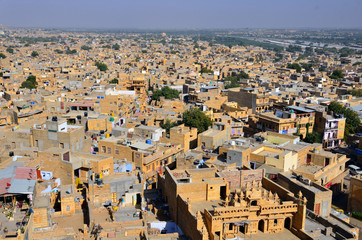 Jaisalmer city view in India